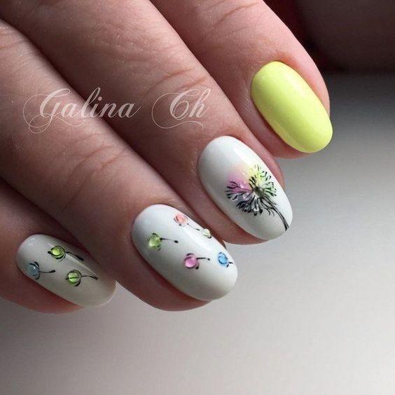 Inspiracje na wiosenne wzorki na paznokciach