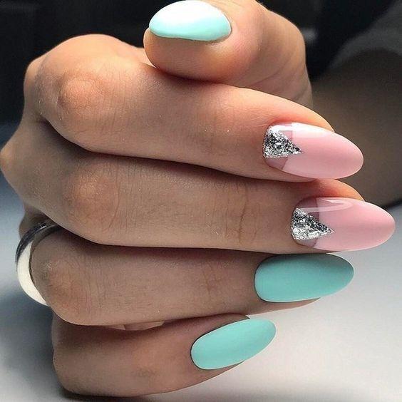 Pomysły na miętowe paznokcie hybrydowe