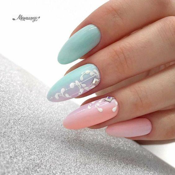 Pomysły na miętowe paznokcie