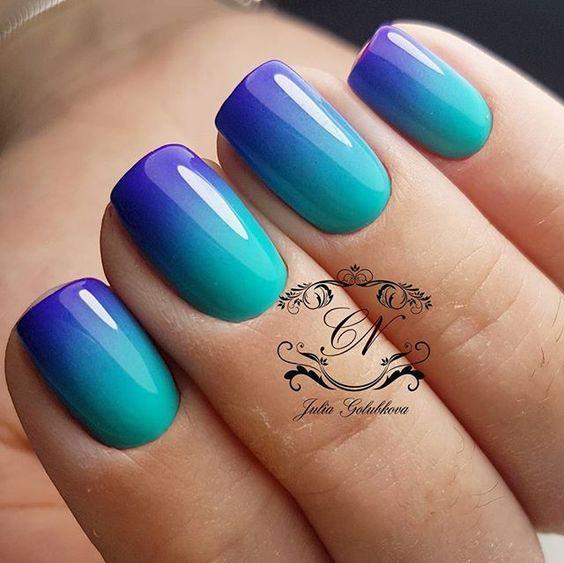 Pomysły na ombre paznokcie