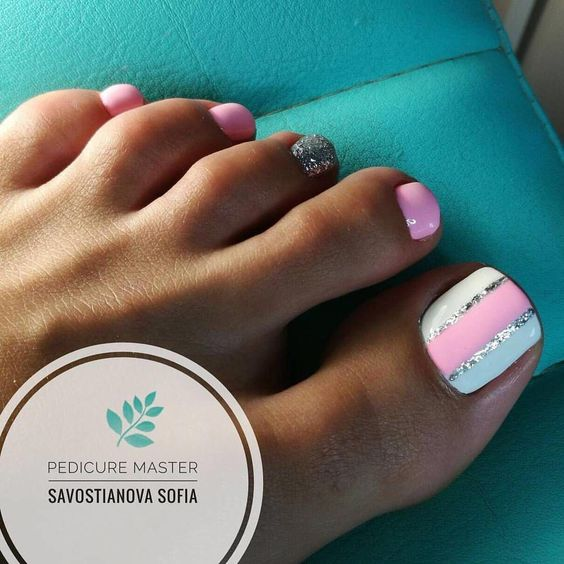 Wiosenny pedicure