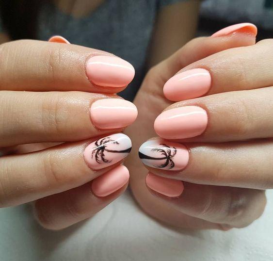 Brzokswiniowe paznokcie z palmami