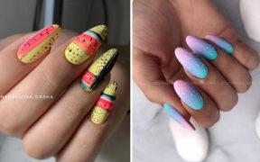 Najlepsze pomysły na kolorowe paznokcie 2019