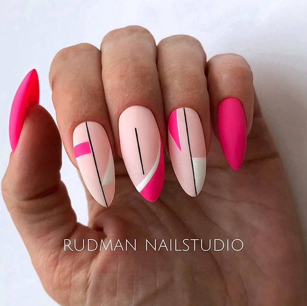 Pomysły na malinowe paznokcie