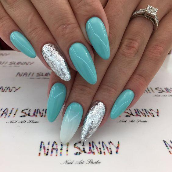 Pomysły na turkusowe paznokcie