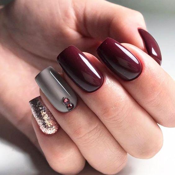 Bordowe paznokcie na jesień