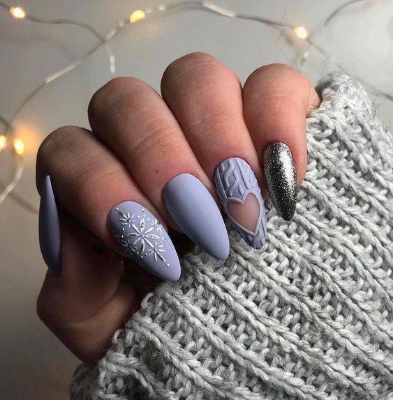 Matowe paznokcie na zimę