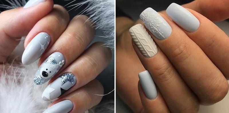 Wspaniałe inspiracje na zimowe paznokcie 2019