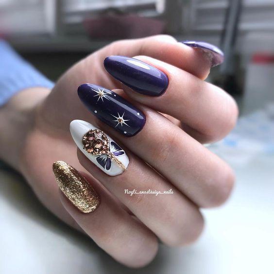 Świąteczne paznokcie z wzorkami