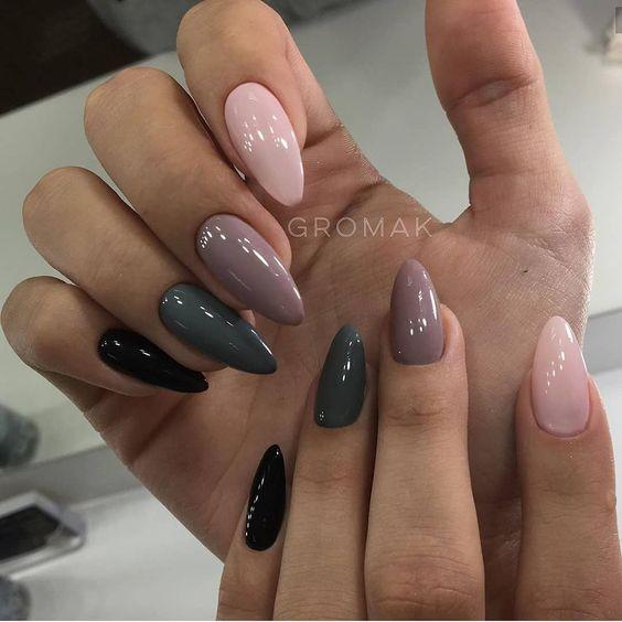 Kolorowe paznokcie na jesień