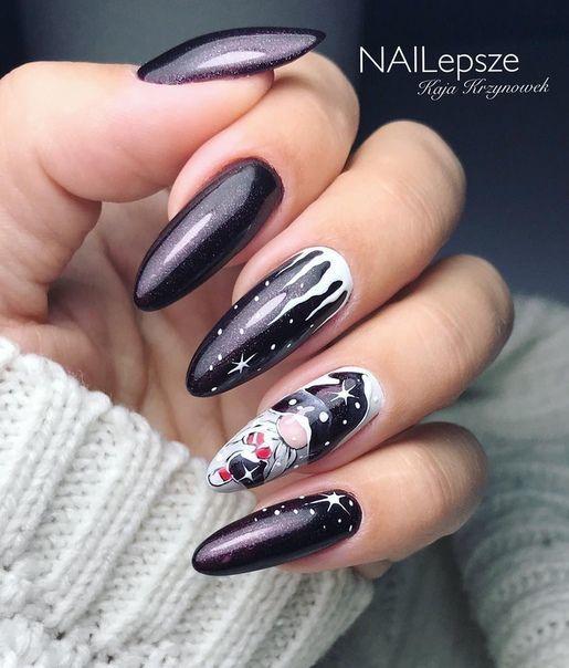 Brokatowe paznokcie na zimę