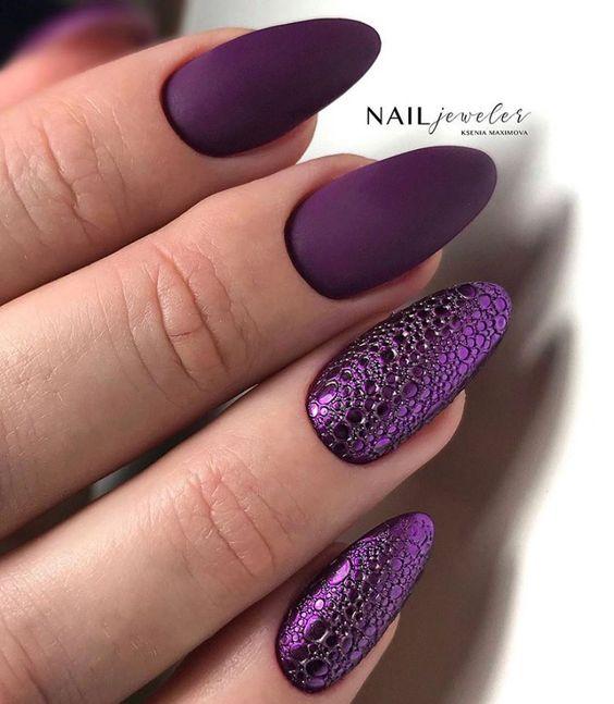 Bubble nails w kształcie migdałków