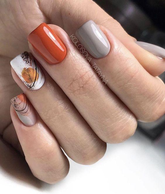 Krótkie paznokcie na jesień