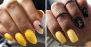 Pomysły na żółte paznokcie - TOP 15 inspiracji