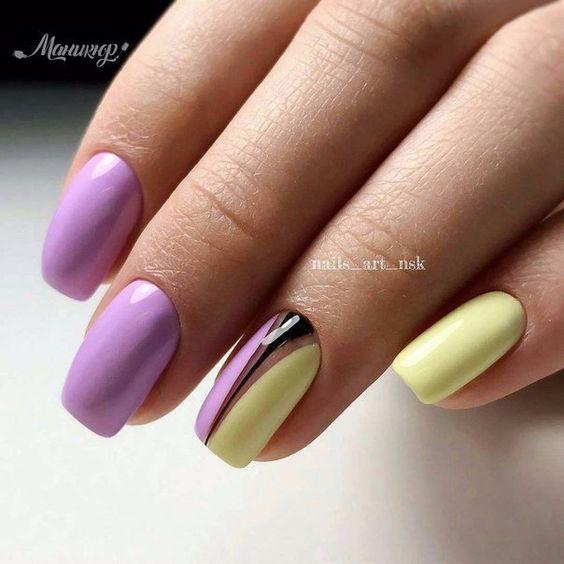 Wrzosowo żółte paznokcie