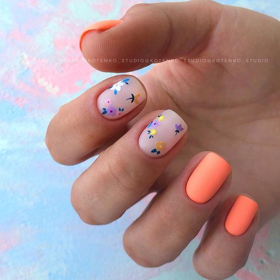 Matowy manicure na wiosnę