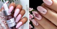 Paznokcie w kolorze pudrowego różu - TOP 14 inspiracji