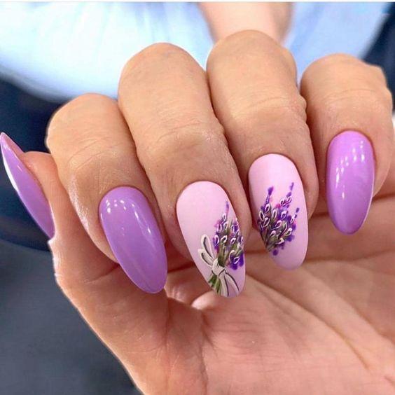 Wrzosowe paznokcie na wiosnę
