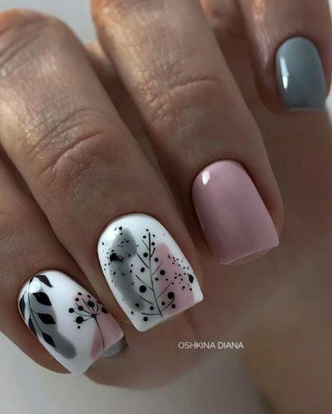 Jesienne paznokcie w kolorze białym